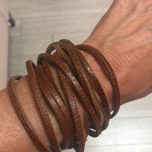 Bohemian Rockstar leather Wrap bracelet choker